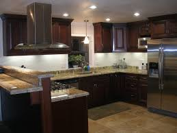 Led Lighting Under Kitchen Cabinets by Unusual Strip Shape Led Lights Under Kitchen Cabinets With Brown