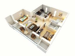 Three Bedroom House Interior Designs Three Bedroom House Layout Inspirations With Attractive 3d Plan