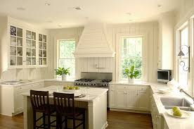 great cottage kitchen ivory walls and cabinets marble counters