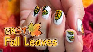 fall leaves nail art stuffshalinmakes collection fall leaf nail