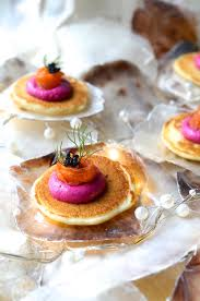 pate canapes buckwheat blinis with beetroot pâté canapes