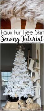 faux fur tree skirt fur christmas tree skirt sewing tutorial sew what
