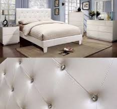 Tufted King Bed Frame Eastern King Bed Frame In White Wit Tufted Headboard
