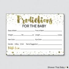 free printable baby shower prediction cards baby shower