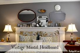 vintage headboard reading l vintage mantel headboard reveal and garage sale mirror steal