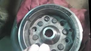 taking yamaha 350 warrior flywheel off starting problem youtube