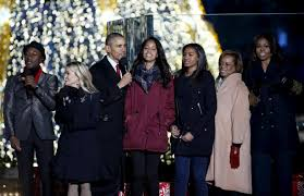 obama lights national tree remembers california victims