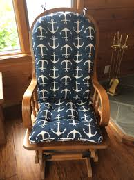 One Piece Rocking Chair Cushions Navy Rocking Chair Covers For Nursery Cozy Rocking Chair Covers