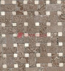 botticino beige noce mix basket weave tumbled travertine tiles