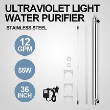 uv light water treatment uv water purifier ebay