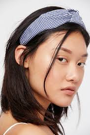 knotted headband gingham knotted headband free