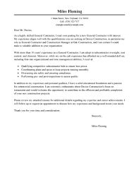 Exles Of Resumes Qualifications Resume General - best general contractor cover letter exles livecareer