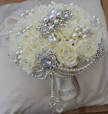 artificial wedding bouquets wedding bouquets with feathers and brooches and sola flowers