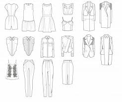 drawn suit technical drawing pencil and in color drawn suit