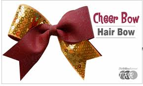 bow for hair how to make a cheer bow hair bow theribbonretreat