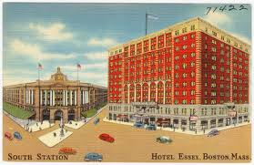 Boston Station Map by South Station Hotel Essex Boston Mass Digital Commonwealth