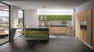 with breakfast space at the island small apartment kitchen design