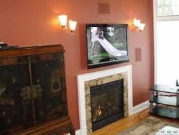 television over fireplace hdtv s over a fireplace park place installations