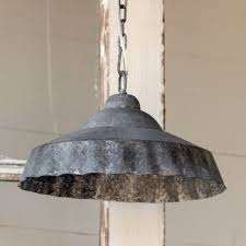 Galvanized Pendant Light Galvanized Ruffled Pendant Light A Cottage In The City