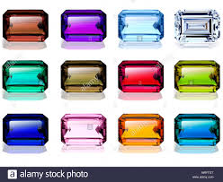 birthstones emerald cut birthstones gemstones stock photo royalty free