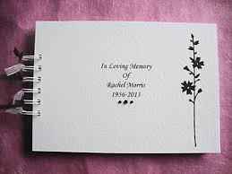 funeral guest book personalised condolence bereavement memory book funeral guest
