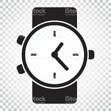watch vector icon clock flat illustration simple business concept