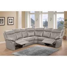 canap d angle 7 places canapé d angle relax 7 places cuir gris vyctoire l 275 x l 225 x