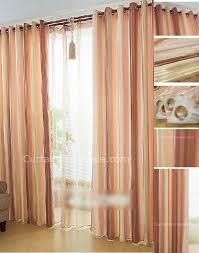 fabric window treatment coffee and orange striped modern curtain
