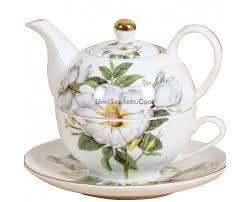 bone porcelain royal orchid tea for one set umiteasets