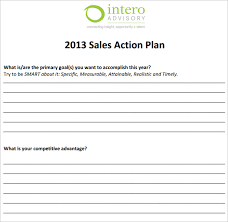 sales action plan template word sales action plan template sample