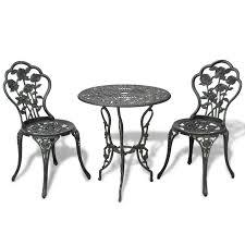 Three Piece Patio Furniture Set - vidaxl three piece bistro set green cast aluminum vidaxl com