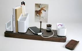 Wood Desk Accessories And Organizers Kaiju Studios Io Desk Organizer Notcot Inside Modern Desk