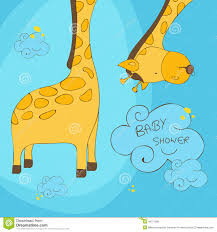 Baby Invitation Card Design Invitation Card Design For Baby Shower Stock Illustration Image