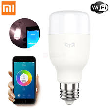 Led Night Light Bulb by Xiaomi Mi Yeelight E27 Smart Light Bulb Wireless Wi Fi Led Bulb
