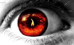 1440x900 flames eyes fire red eye reflected desktop hd wallpaper