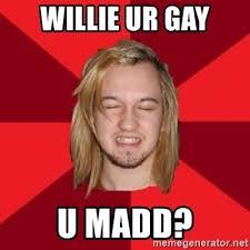 Ur Gay Meme - willie ur gay u madd retard roy meme generator