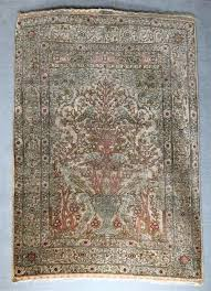 Azari Rugs Grogan And Company Silk Hereke Prayer Rug Turkey Ca 1975