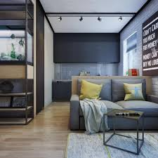 tiny one bedroom apartment design with work space u0026 bathtub