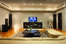 Living Room Home Theater Design Design US House And Home Real - Living room with home theater design