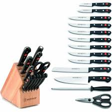 wusthof gourmet 14 piece deluxe knife block set at chefs corner store