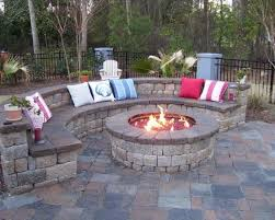 Backyard Patios Ideas Garden Design Traditional Outdoor Round Patio Fire Pits