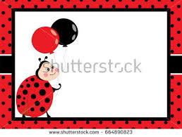 invitation ladybug template stock images royalty free images