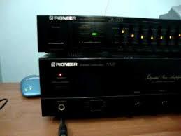 pioneer a 229 amplifier u0026 gr 333 equalizer wmv youtube