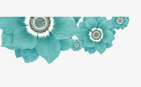 teal flowers flowers flowers flowers image decoration png and psd file for