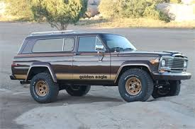 gold jeep cherokee up for sale is 1979 jeep cherokee golden eagle it was a frame off