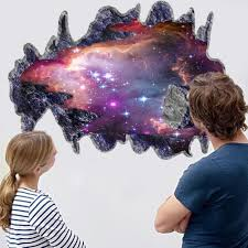 amazon com chans 3d outer space galaxy meteorites wall stickers amazon com chans 3d outer space galaxy meteorites wall stickers removable vinyl wall art murals diy home decals home kitchen