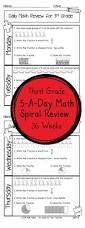 free 3rd grade morning work third grade language and math