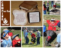 backyard campout party check out the puffy smores invitations