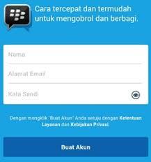 membuat akun gmail bbm cara daftar buat akun bbm blackberry id terbaru di hp android