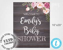 baby shower welcome sign template welcome baby shower sign